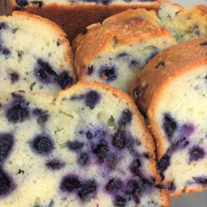 Blueberry sour cream poundcake