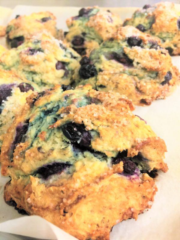 fresh blueberry buttermilk scones